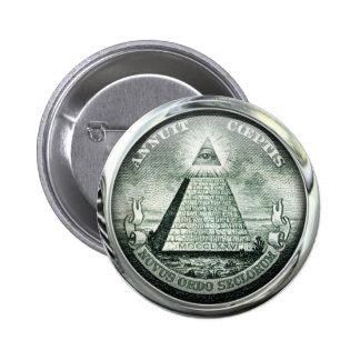 Illuminati US Great Seal 2 Inch Round Button