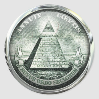 Illuminati US Great Seal Round Stickers