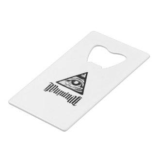 Illuminati Wallet Bottle Opener