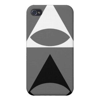 Illuminati White And Black iPhone 4 Case