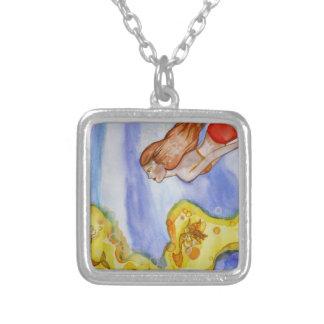 Illumination Mermaid Silver Plated Necklace