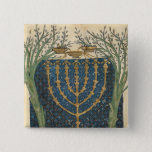 Illumination of a menorah, from 2 inch square button