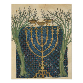 Illumination of a menorah, from poster