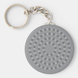 Illusion Basic Round Button Keychain
