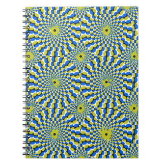 Illusion circle spiral notebook