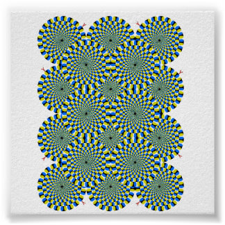 illusion circles poster