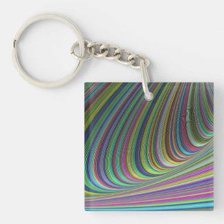 Illusion Double-Sided Square Acrylic Keychain
