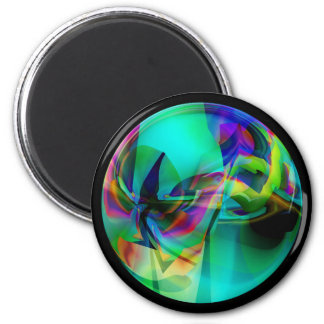 Illusion of Glass Magnet