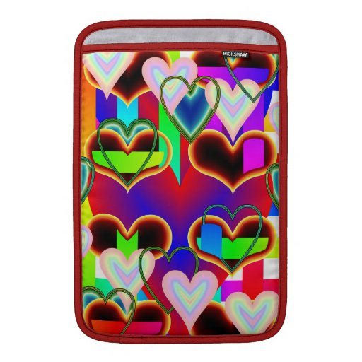 Illusion of the Hearts Macbook Air Sleeve