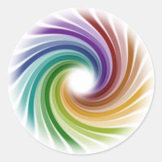 Illusion Round Sticker