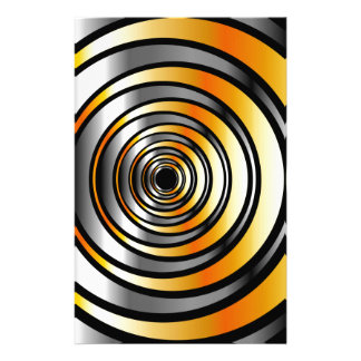 Illusion with metallic rings stationery
