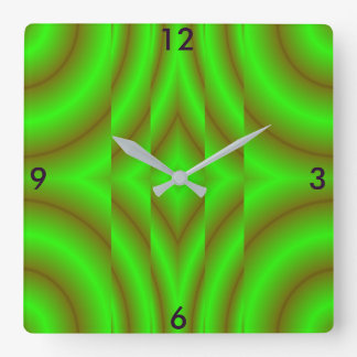 Illusions Modern Clock -Home Decor-Green/Brown