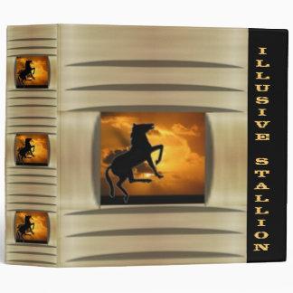 Illusive Stallion Vinyl Binder