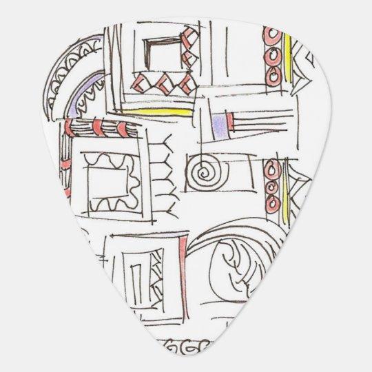 Illusory-Abstract Art Geometric Ink Drawing Pick