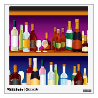 Illustrated Bar Back Wall Sticker