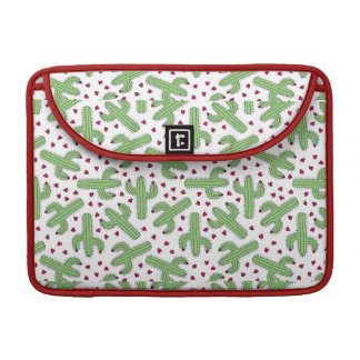 Illustrated Cactus & Pink Flowers Pattern Sleeve For MacBooks