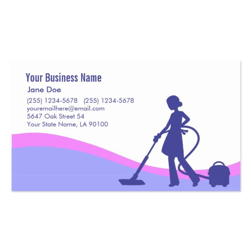 Illustrated Cleaning Business Card