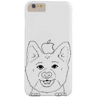 Illustrated Corgi with apple Barely There iPhone 6 Plus Case