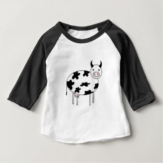 Illustrated Cow Baby T-Shirt