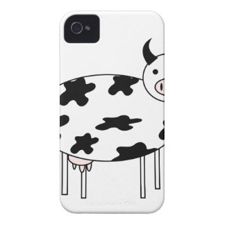 Illustrated Cow iPhone 4 Case-Mate Cases