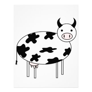 Illustrated Cow Letterhead