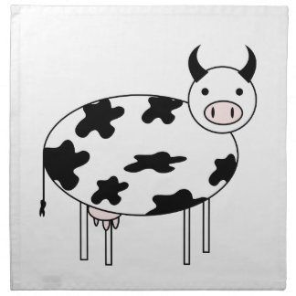 Illustrated Cow Napkin
