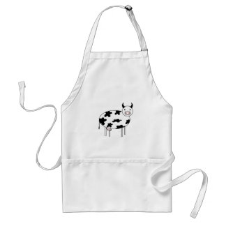 Illustrated Cow Standard Apron