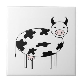 Illustrated Cow Tile