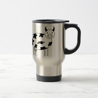 Illustrated Cow Travel Mug