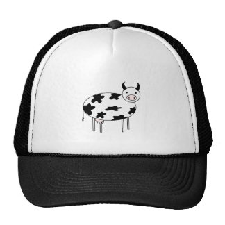 Illustrated Cow Trucker Hat