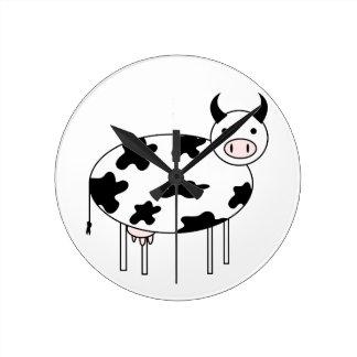 Illustrated Cow Wallclock