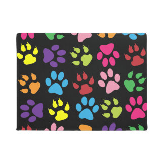 Illustrated Dog Paws Doormat