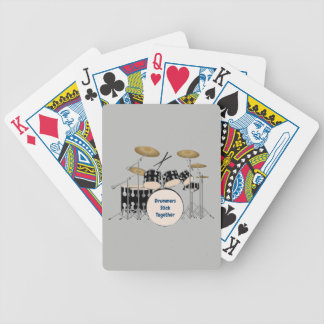 Illustrated Drum Set Bicycle Playing Cards