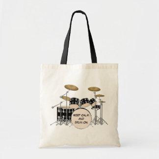 Illustrated Drum Set Tote Bag