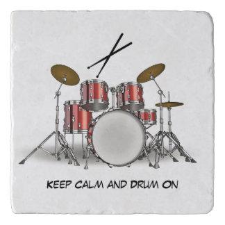 Illustrated Drum Set Trivet