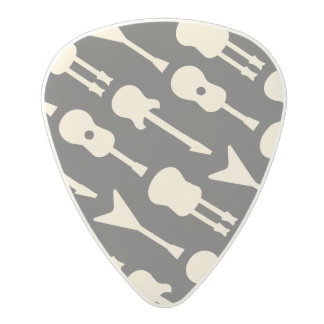 Illustrated Guitar Patterns Polycarbonate Guitar Pick