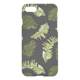 Illustrated Jungle Leaves Dark Pattern iPhone 8/7 Case