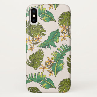 Illustrated Jungle Leaves Pattern Case-Mate iPhone Case