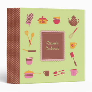 Illustrated Kitchen Utensils Avery Binder