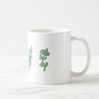 Illustrated leaves. coffee mug
