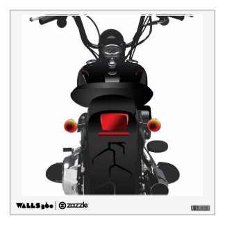 Illustrated Motorcycle Back Wall Decal