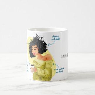 """Illustrated Mug Girly """"I woke up like this """""""