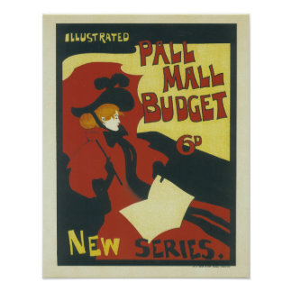 Illustrated Pall Mall Budget New Series Poster