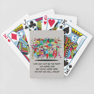 Illustrated People Dancing Bicycle Playing Cards