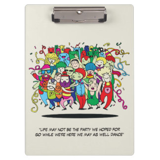 Illustrated People Dancing Clipboards