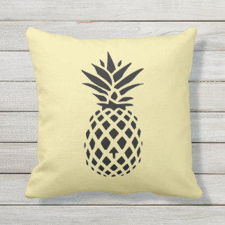 Illustrated Pineapple Throw Pillow