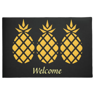 Illustrated Pineapples design Doormat