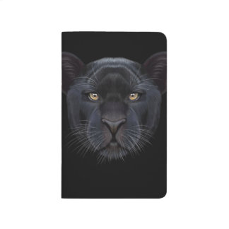 Illustrated portrait of Black Panther. Journal