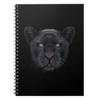 Illustrated portrait of Black Panther. Note Books