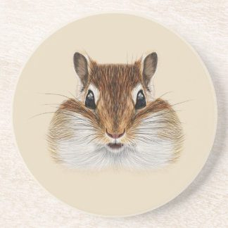 Illustrated portrait of Chipmunk. Coaster